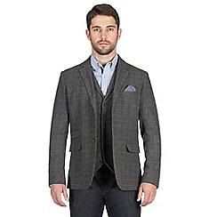 Jeff Banks - Grey large check blazer
