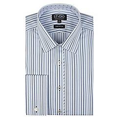 Stvdio by Jeff Banks - Light blue multi stripe shirt