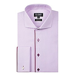 Stvdio by Jeff Banks - Pink engineered stripe shirt