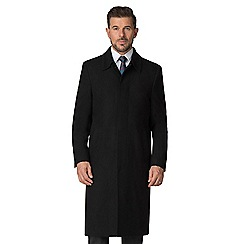 Jeff Banks - Black wool rich classic overcoat