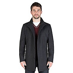 Jeff Banks - Charcoal wool blend funnel coat