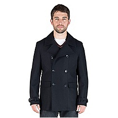 Jeff Banks - Navy wool blend peacoat