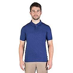 Jeff Banks - Blue multi stitch polo shirt