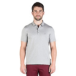 Jeff Banks - Grey geo jacquard polo shirt