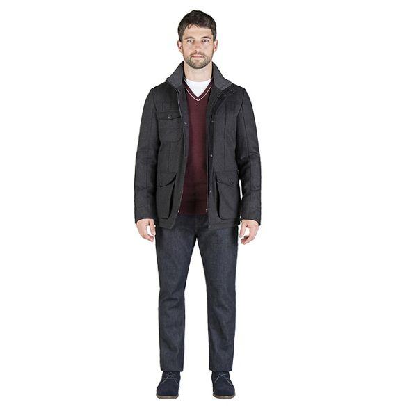 utility blend wool jacket Charcoal Banks Jeff q6Ba6