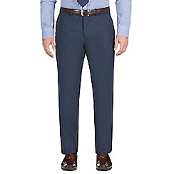 Jeff Banks - Blue textured weave trouser