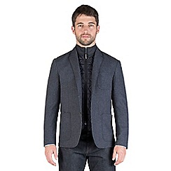 Jeff Banks - Blue wool blend blazer with quilted removable insert