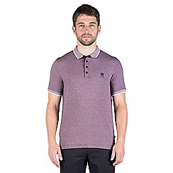 Jeff Banks - Plum mini stripe polo shirt