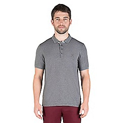 Jeff Banks - Grey mini stripe polo shirt