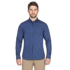 Jeff Banks - Navy circles print shirt