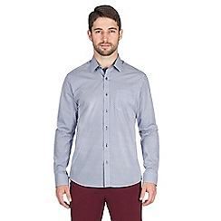 Jeff Banks - Blue diamonds print shirt