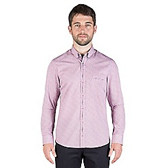 Jeff Banks - Mulberry floral print shirt