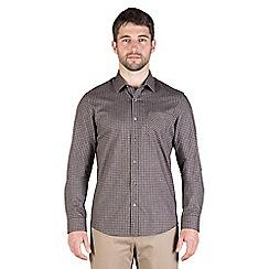 Jeff Banks - Brown textured check shirt
