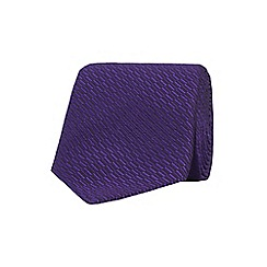 Stvdio by Jeff Banks - Purple irregular textured tie
