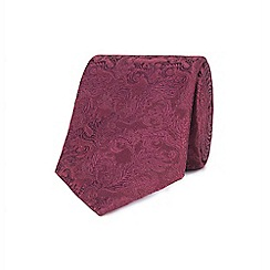 Stvdio by Jeff Banks - Wine ornate leaves tie