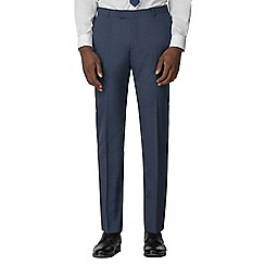 Red Herring - Blue grey textured slim fit trousers