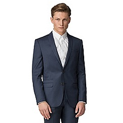 Ben Sherman - Blue flannel slim fit jacket
