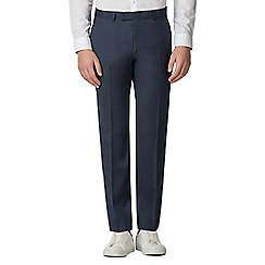 Ben Sherman - Blue flannel slim fit trousers