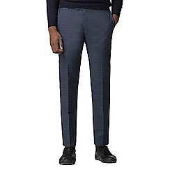 Red Herring - Blue with navy overcheck slim fit trouser