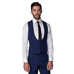 Occasions - Bright blue tailored fit scoop vest