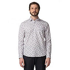 Jeff Banks - White spray floral shirt