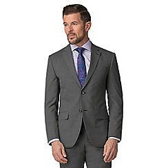 Jeff Banks - Grey textured wool blend 2 button modern regular fit suit jacket