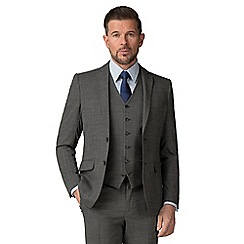 Stvdio by Jeff Banks - Grey Puppytooth wool blend 2 button tailored fit suit jacket