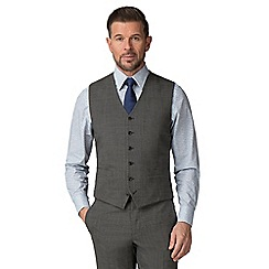 Stvdio by Jeff Banks - Grey Puppytooth wool blend 6 button tailored fit suit waistcoat