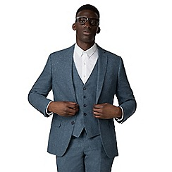 Racing Green - Blue linen tailored suit