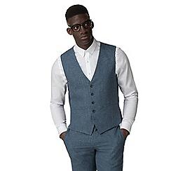 Racing Green - Blue linen waistcoat