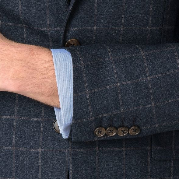 Racing tailored jacket rust windowpane Green Navy v8qBrUwv