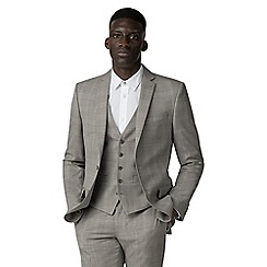 Racing Green - Champagne check tailored jacket