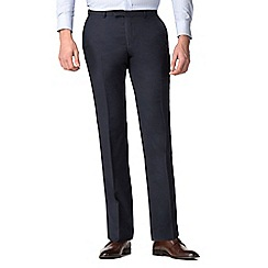 Hammond & Co. by Patrick Grant - Navy micro check tailored trousers