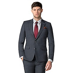 Hammond & Co. by Patrick Grant - Grey blue textured tailored jacket