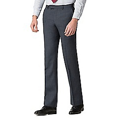 Hammond & Co. by Patrick Grant - Grey blue textured tailored trousers