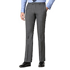Hammond & Co. by Patrick Grant - Grey textured tailored trousers
