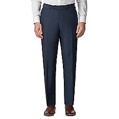 Jeff Banks - Blue pure linen tailored fit suit trousers