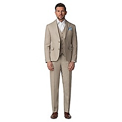 Jeff Banks - Oatmeal pure linen tailored fit suit jacket