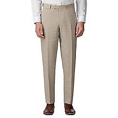 Jeff Banks - Oatmeal pure linen tailored fit suit trousers