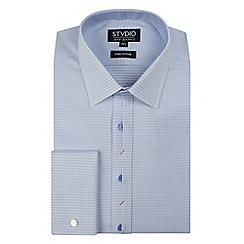 Stvdio by Jeff Banks - White micro dobby shirt
