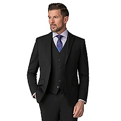 Stvdio by Jeff Banks - Black wool blend 2 button tailored fit suit jacket