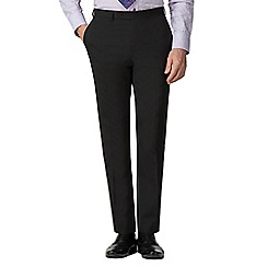 Stvdio by Jeff Banks - Black wool blend flat front tailored fit suit trousers