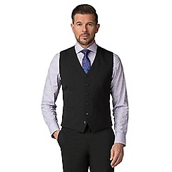 Stvdio by Jeff Banks - Black wool blend 6 button tailored fit suit waistcoat