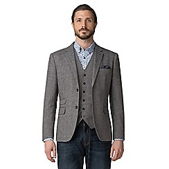 Jeff Banks - Grey textured weave blazer
