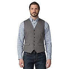 Jeff Banks - Grey textured weave waistcoat