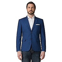 Jeff Banks - Blue Two Tone Textured Blazer
