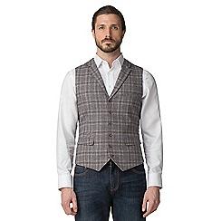 Jeff Banks - Fawn check waistcoat