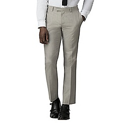 Racing Green - Oatmeal linen tailored trousers