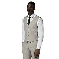 Racing Green - Oatmeal linen waistcoat