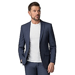 The Collection - Airforce blue birdseye tailored fit suit